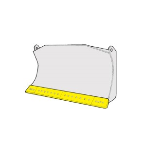 Caterpillar D5C-P peilių komplektas (20 skylės)