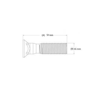 Varžtas peilio M16 x 50 mm
