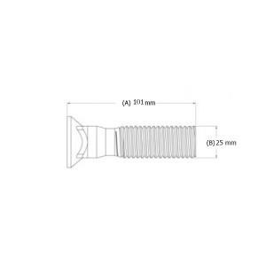 "Varžtas peilio 1"" x 101 mm"