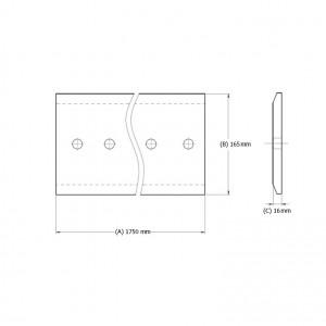 Peilis centrinis mini krautuvui (8 skylės)