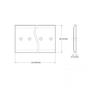 Peilis centrinis mini krautuvui (11 skylių)