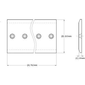 Peilis centrinis (5 skylės)