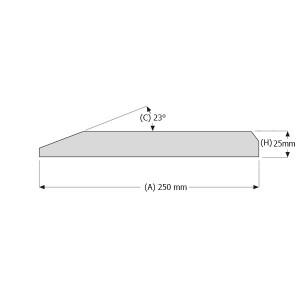 Peilio profilis vienbriaunis 250x25 mm