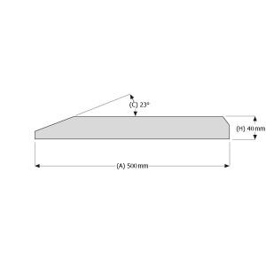 Peilio profilis vienbriaunis 500x40 mm