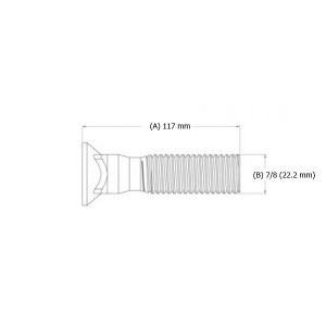 "Varžtas peilio 7/8"" x 117 mm"