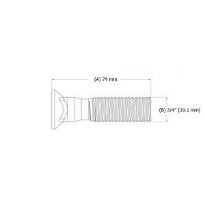 "Varžtas peilio 3/4"" x 79 mm"