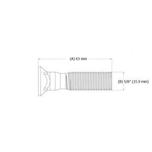 "Varžtas peilio 5/8"" x 63 mm"